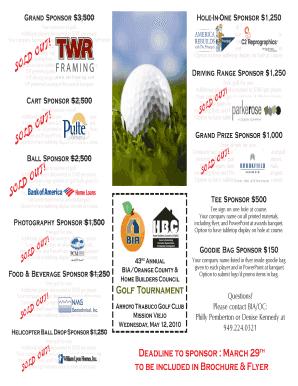 Editable free golf tournament flyer template powerpoint