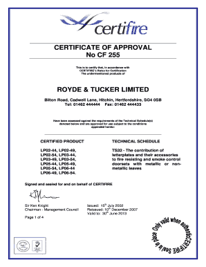 Fillable Online Certificate Of Approval The Internal Revenue