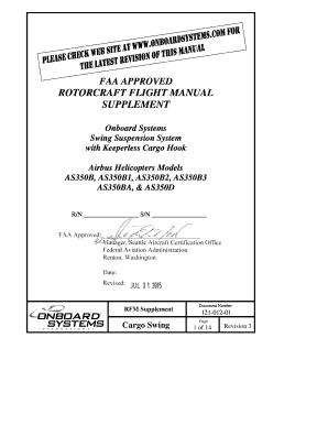 fillable online faa approved rotorcraft flight manual supplement rh pdffiller com