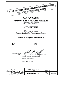 fillable online faa approved rotorcraft flight manual supplement stc rh pdffiller com