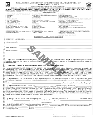 standard form of condominium apartment lease Templates - Fillable ...