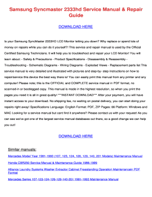 Schaltplan Samsung Syncmaster 2333 Hd - Fill Online, Printable ...