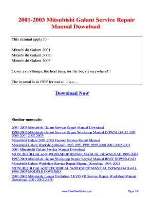 mitsubishi galant 2003 fill online printable fillable blank rh pdffiller com 2002 Mitsubishi Galant Fuse Box Layout 99 Mitsubishi Galant Repair Manual