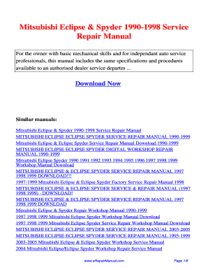 Eclipse 98 gsx owners manual fill online printable fillable eclipse 98 gsx owners manual fandeluxe Image collections