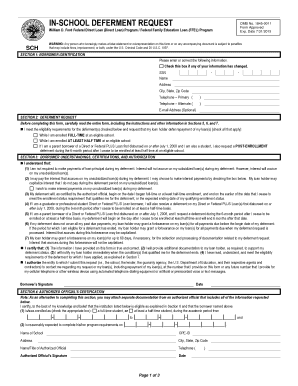 Fillable Online In-School Deferment Form - Nelnet Fax Email Print ...