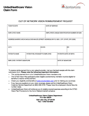 united healthcare claim form Templates - Fillable & Printable ...
