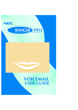 Ranger NDK Pro Voice Mail User Guide - NEC
