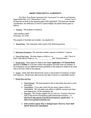 simple rental agreement one page