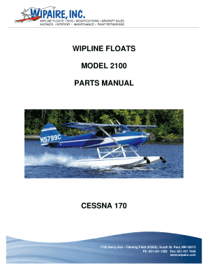 Fillable Online WIPLINE FLOATS SKIS MODIFICATIONS AIRCRAFT