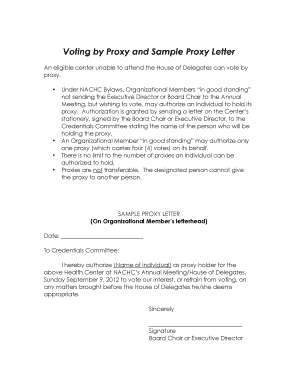 Proxy Voting Form Template Download Gifts Remix Download