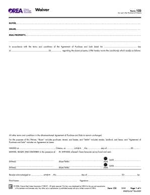 Orea Waiver Fill Online Printable Fillable Blank