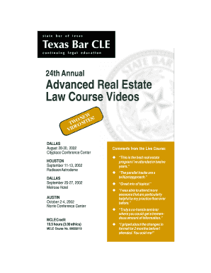 Advanced Real Estate Law Course Videos - TexasBarCLE