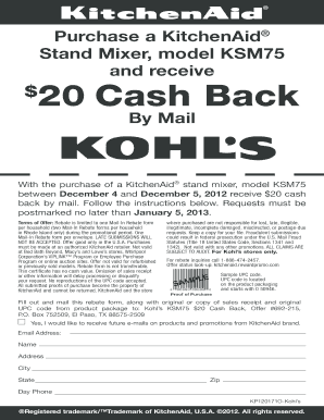 How To Fill Kohls Rebate Form - Fill Online, Printable, Fillable ...