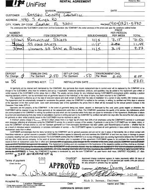 Uniform Rental Agreement Fill Online Printable Fillable