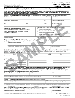 Employment Eligibility Verification Forms and Templates - Fillable ...