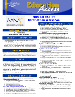 MDS 3.0 RAC-CT Certification Workshop - Illinois Health Care ...