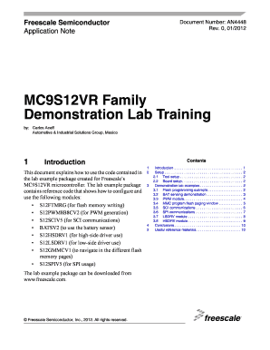 MC9S12VR Family Demonstration Lab Training - Freescale ...