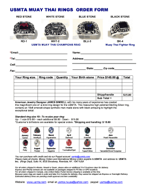 usmta ring form