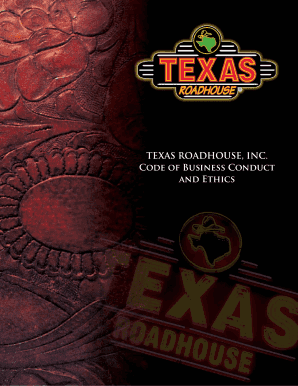 texas roadhouse code of conduct form