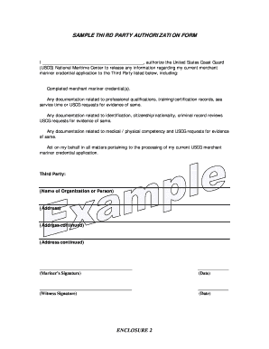 3rd party authorization form template va release of information to third party Templates - Fillable ...