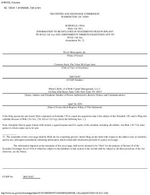 Sec Form 13d - Fill Online, Printable, Fillable, Blank | PDFfiller