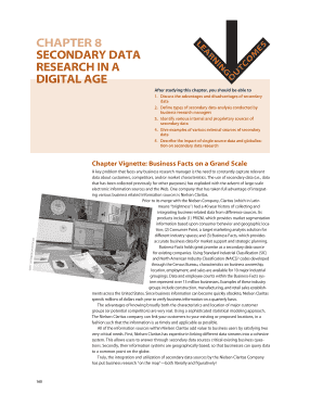 secondary research data in a digital