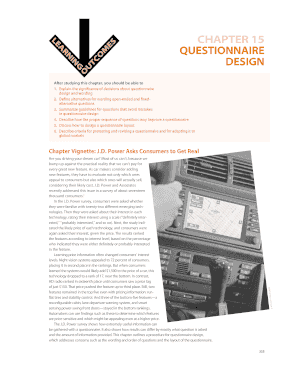 how to design a questionnaire pdf