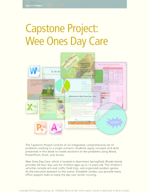 powerpoint capstone project wee ones daycare