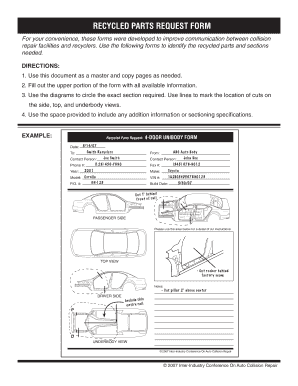 RECYCLED PARTS REQUEST FORM - I-Car