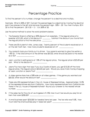 All Worksheets » Percent Word Problems Worksheets Grade 6 ...