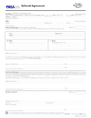 Orea Referral Form - Fill Online, Printable, Fillable, Blank ...