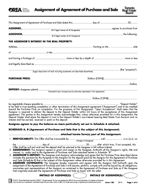 treb assignment agreement form