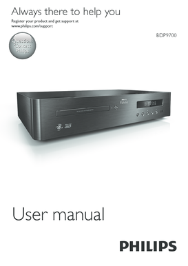 Contact Philips User manual BDP9700 EN Before you connect this Bluray disc/ DVD player, read and understand all accompanying instructions