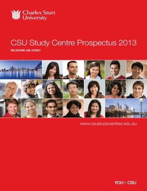 csu melbourne prospectus fill online printable