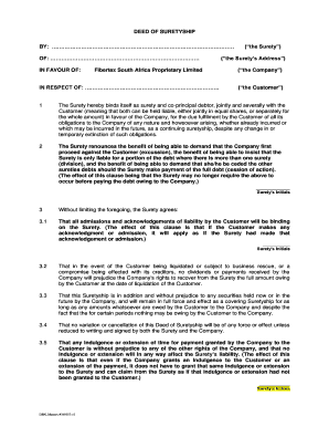 Editable Deed Of Acknowledgement Of Debt Template Fill Print