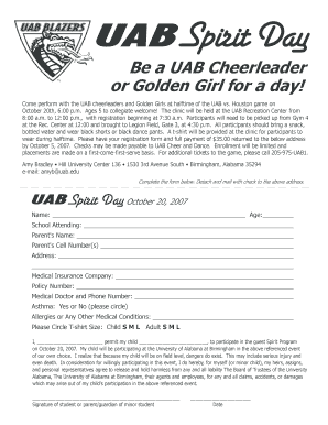 Uab Rec Center - Fill Online, Printable, Fillable, Blank