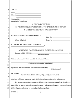 Involuntary Admission Petition and Orderpdf - Second Judicial bb