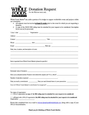 free donation form