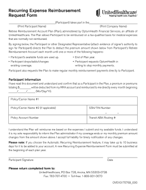 rebursment request forms