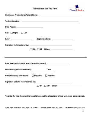 Tb Form Skin - Fill Online, Printable, Fillable, Blank | PDFfiller
