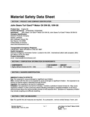 Fillable Online Material Safety Data Sheet SECTION 1 PRODUCT AND