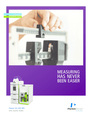 Flexar SQ 300 MS Brochure. With today s ever more complex and demanding laboratory workflows, quality of data is everything. It s often no longer enough to determine simply what s in a sample; you need to measure precisely how much