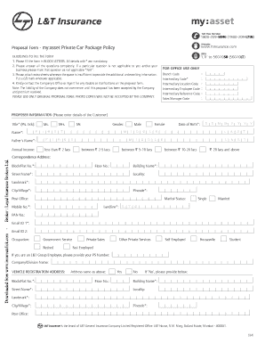 Download l&t-insurance my-asset-private car proposal-form