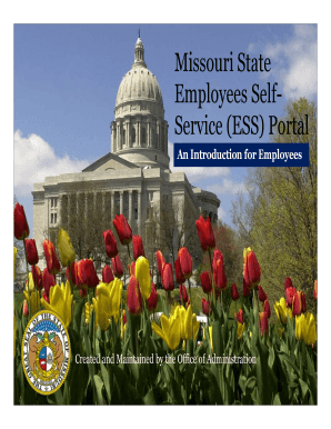 Fillable Online ess mo Missouri State Employees Self- Service ESS
