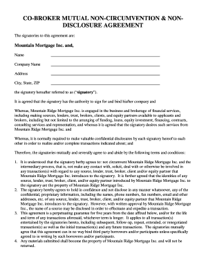 Mutual Non Disclosure Agreement Fill Out Online Forms