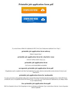 Printable job application form to Download - Editable ...