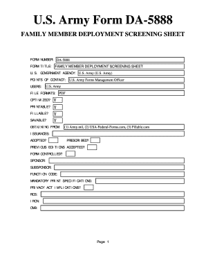 Us Army Deployment Form - Fill Online, Printable, Fillable, Blank ...