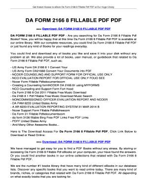 Fillable Online jansbooks DA FORM 2166 8 FILLABLE PDF PDF ...