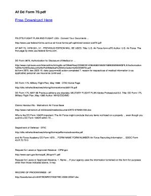Fillable Online Af Dd Form 70 Fax Email Print - PDFfiller