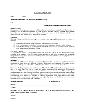 Lease Agreement For Student Accommodation Fill Out Online